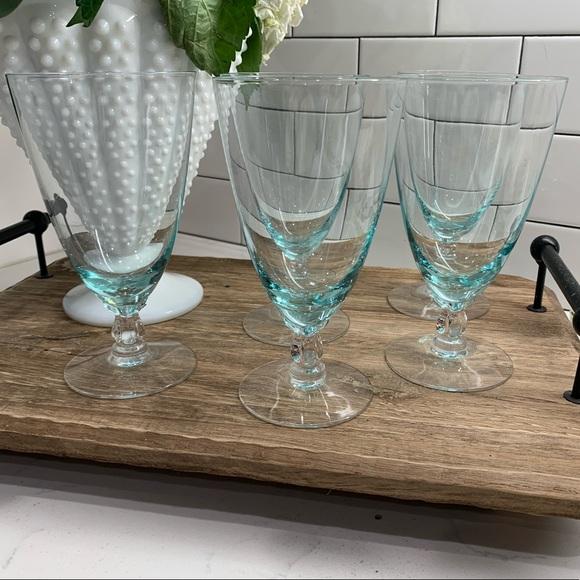 Vintage Fostoria Rhapsody Blue Water Goblets